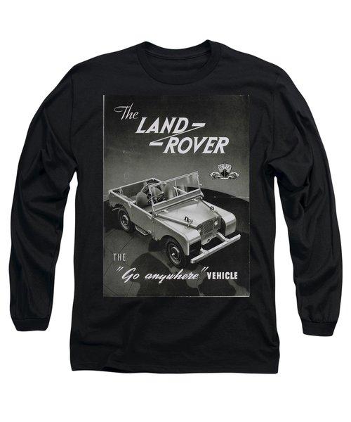 Vintage Land Rover Advert Long Sleeve T-Shirt
