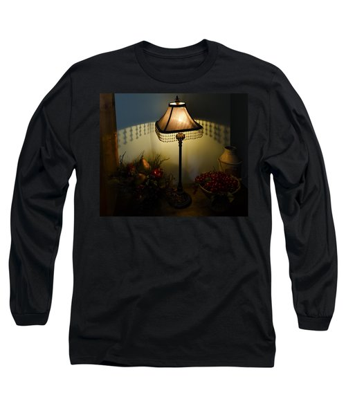 Vintage Still Life And Lamp Long Sleeve T-Shirt by Greg Reed