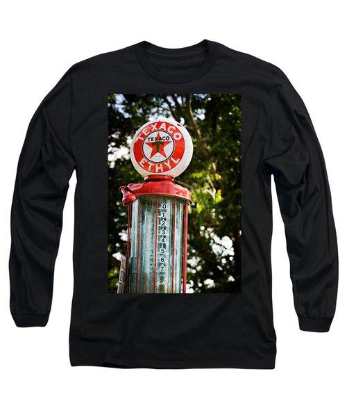Vintage Texaco Gas Pump Long Sleeve T-Shirt