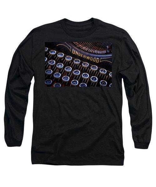 Vintage Typewriter 2 Long Sleeve T-Shirt