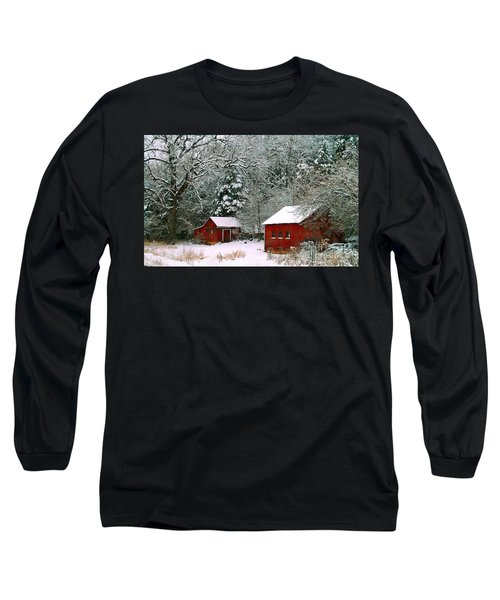 Vintage Winter Barn  Long Sleeve T-Shirt