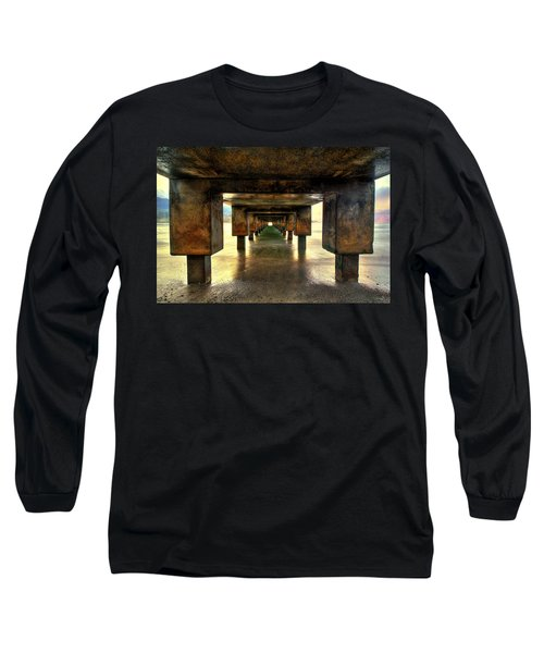 Vintaged Hanalei Pier  Long Sleeve T-Shirt