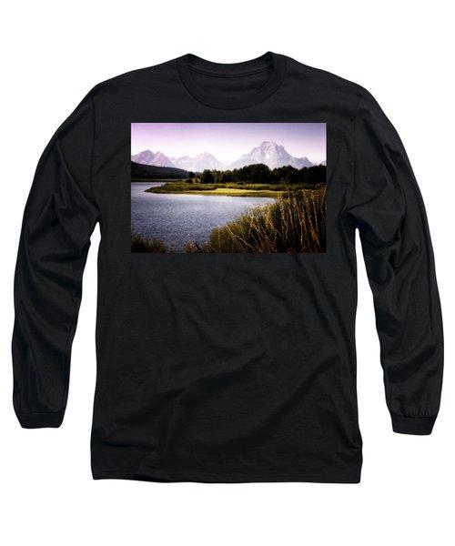 Violet Tetons Long Sleeve T-Shirt