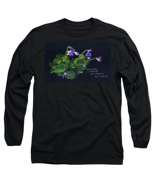 Violets And Psalm 104 Long Sleeve T-Shirt