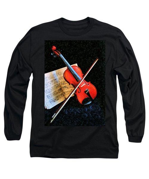 Violin Impression Redux Long Sleeve T-Shirt