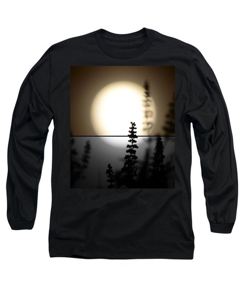 Long Sleeve T-Shirt featuring the photograph Vitex Moon by Charlotte Schafer