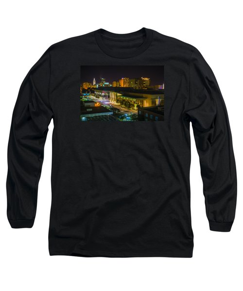 Long Sleeve T-Shirt featuring the photograph Vividly Downtown Baton Rouge by Andy Crawford