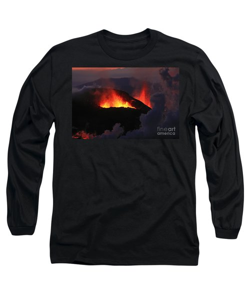 Long Sleeve T-Shirt featuring the photograph Volcanic Eruptions by Gunnar Orn Arnason