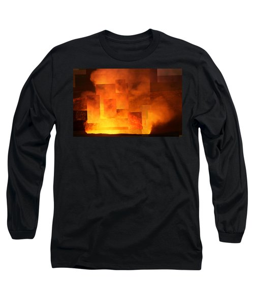Volcanic Fire - Kilauea Caldera  Long Sleeve T-Shirt