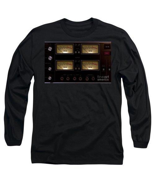 Long Sleeve T-Shirt featuring the photograph Vu Meter Input Output by Gunter Nezhoda