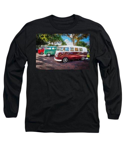 Vw Bus Stop 1964 1961 1968 Vans Trucks Painted Long Sleeve T-Shirt