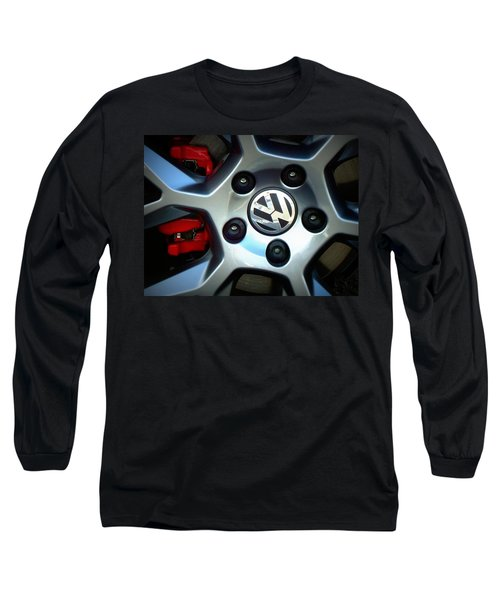 Vw Gti Wheel Long Sleeve T-Shirt by Joseph Skompski