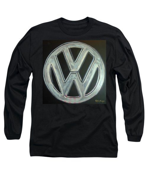 Vw Logo Chrome Long Sleeve T-Shirt