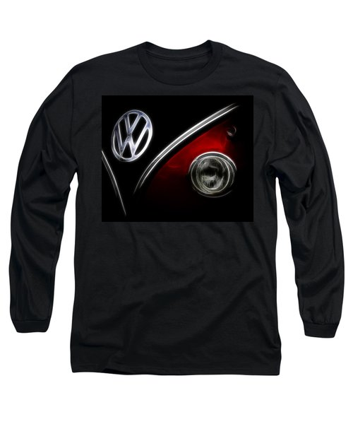 Vw Micro Bus Logo Long Sleeve T-Shirt by Steve McKinzie