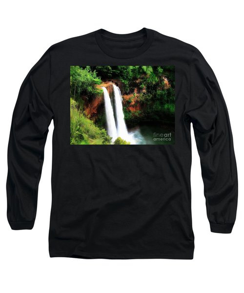 Wailua Falls Long Sleeve T-Shirt by Kristine Merc