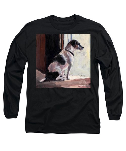 Long Sleeve T-Shirt featuring the painting Wait And See by Molly Poole