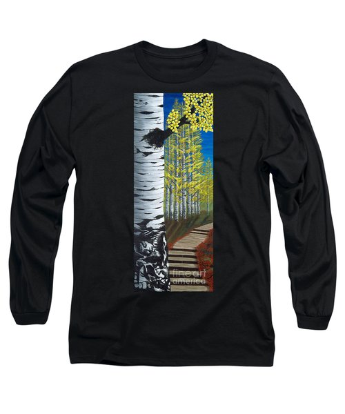 Walk Through Aspens Triptych 1 Long Sleeve T-Shirt
