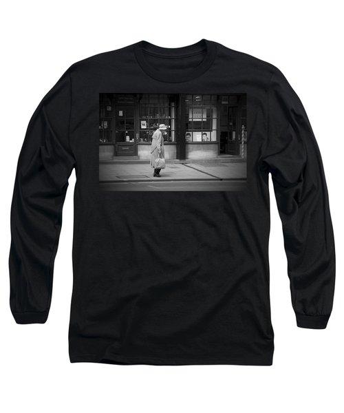 Walking Down The Street Long Sleeve T-Shirt by Chevy Fleet