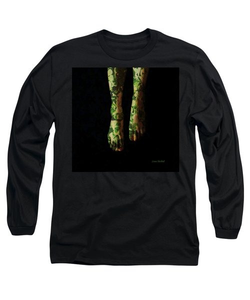 Walking In Clover Long Sleeve T-Shirt by Donna Blackhall