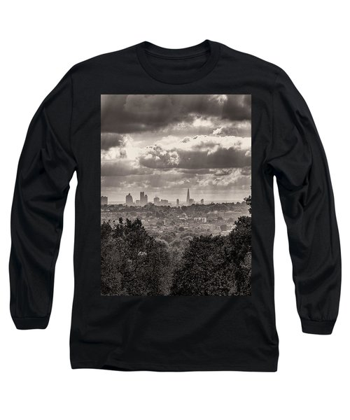 Long Sleeve T-Shirt featuring the photograph Walking The Sights by Lenny Carter