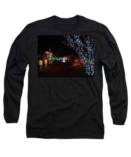 Walking Toward A Spectrum Of Delight Long Sleeve T-Shirt