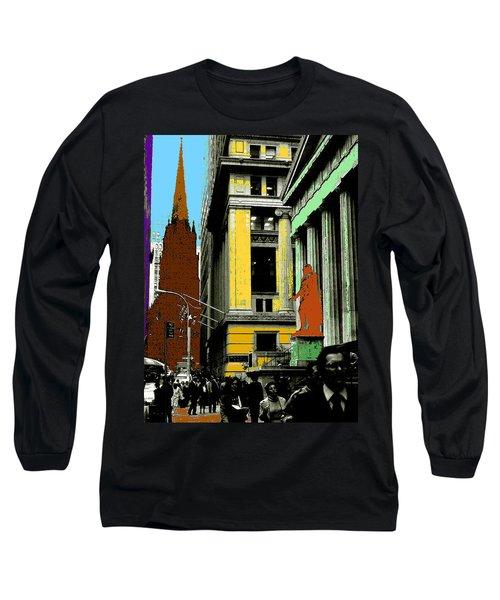 New York Pop Art 99 - Color Illustration Long Sleeve T-Shirt
