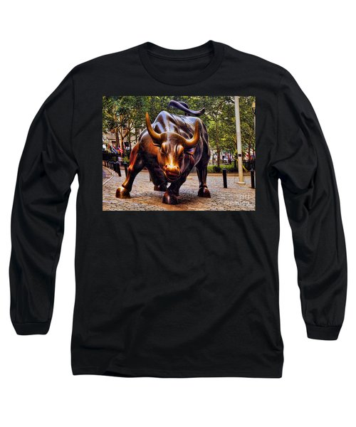Wall Street Bull Long Sleeve T-Shirt