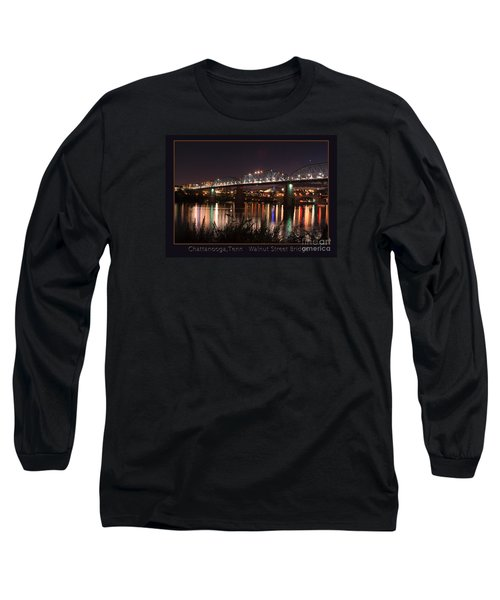 Long Sleeve T-Shirt featuring the photograph Walnut At Night by Geraldine DeBoer