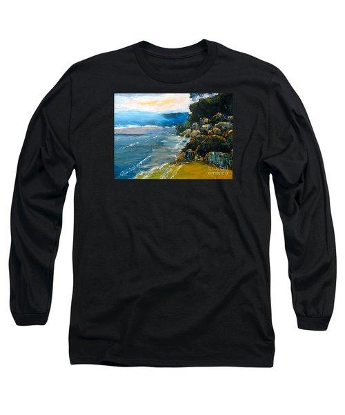 Walomwolla Beach Long Sleeve T-Shirt by Pamela  Meredith