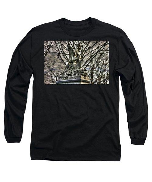 Long Sleeve T-Shirt featuring the photograph War Eagles - 88th Pa Volunteer Infantry Cameron Light Guard-d1 Oak Hill Autumn Gettysburg by Michael Mazaika