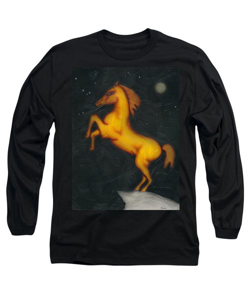 Long Sleeve T-Shirt featuring the painting War Horse. by Kenneth Clarke