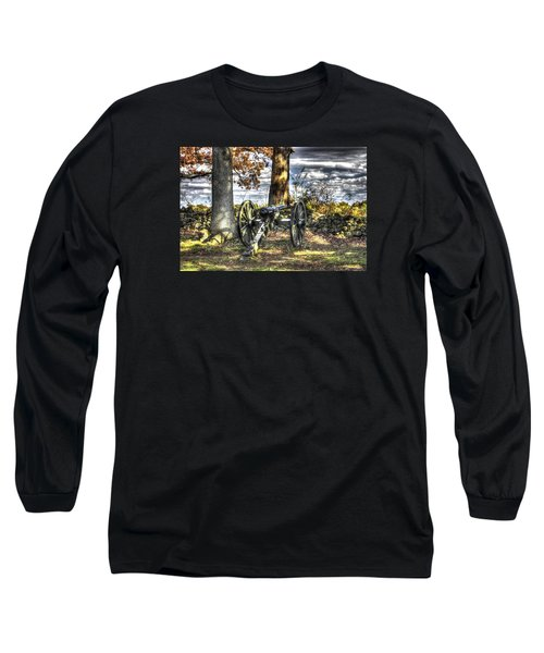 Long Sleeve T-Shirt featuring the photograph War Thunder - Lane's Battalion Ross's Battery-b1 West Confederate Ave Gettysburg by Michael Mazaika