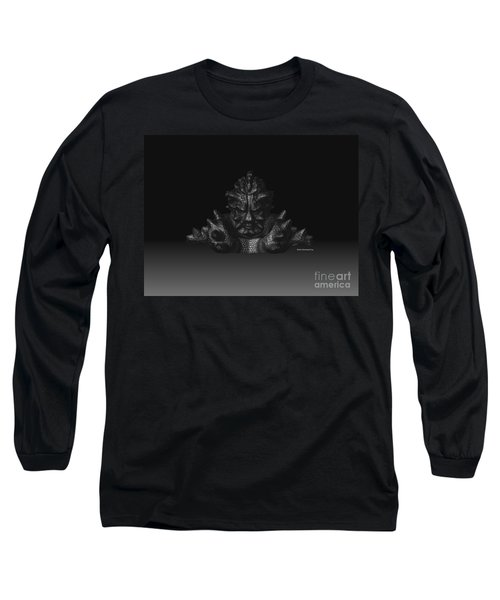 Long Sleeve T-Shirt featuring the sculpture Warlord by R Muirhead Art