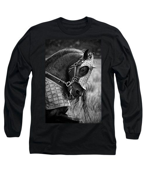 Warrior Horse Long Sleeve T-Shirt by Wes and Dotty Weber