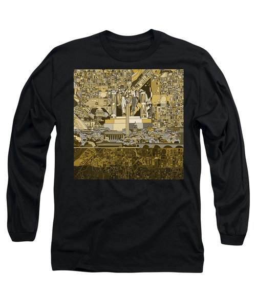 Washington Dc Skyline Abstract 4 Long Sleeve T-Shirt