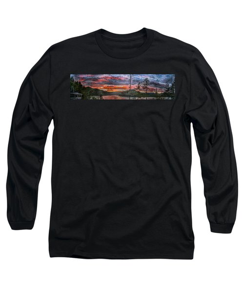 Watauga Lake Sunset Long Sleeve T-Shirt by Tom Culver
