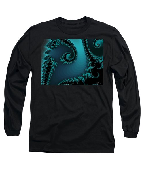 Long Sleeve T-Shirt featuring the digital art Watchers On The Chalcedony Slide by Elizabeth McTaggart