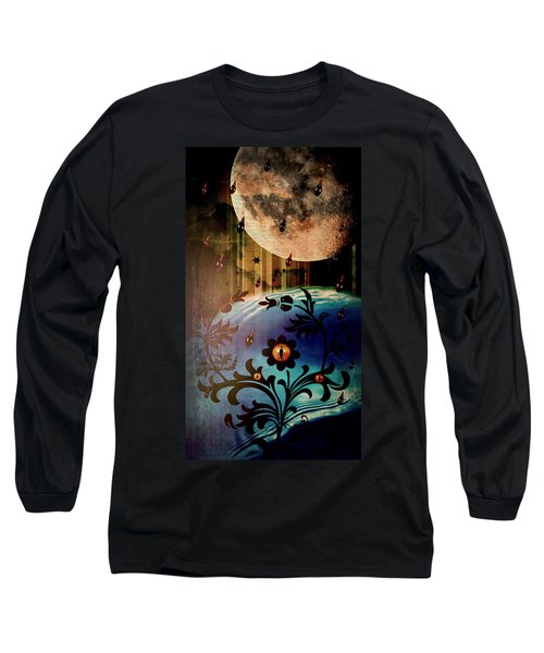 Long Sleeve T-Shirt featuring the mixed media Watching by Ally  White