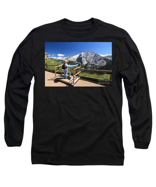 watching Marmolada mount Long Sleeve T-Shirt