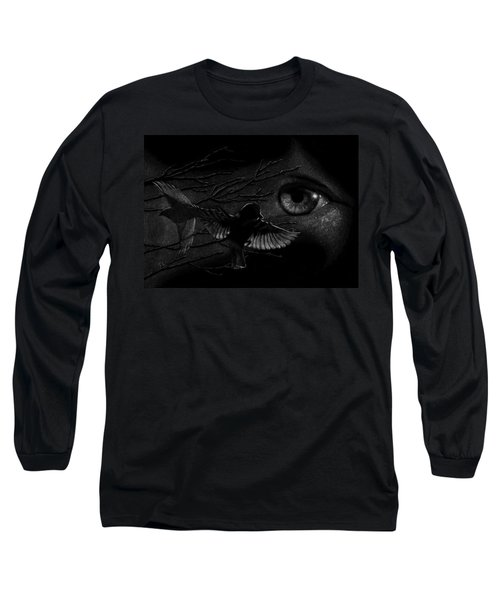 Watching Over Sparrows Long Sleeve T-Shirt by Sandra LaFaut