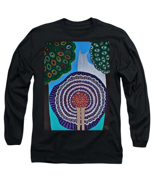 Long Sleeve T-Shirt featuring the painting Watching The Show by Barbara St Jean
