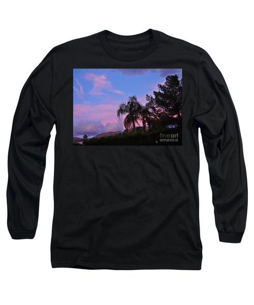 Water Colored Sky Long Sleeve T-Shirt
