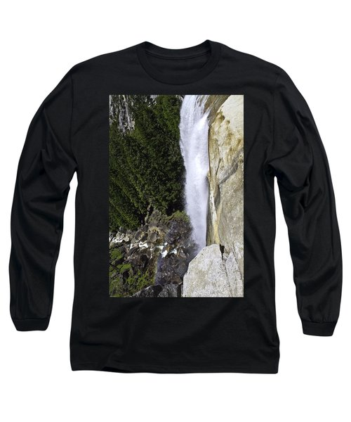 Long Sleeve T-Shirt featuring the photograph Water Fall by Brian Williamson