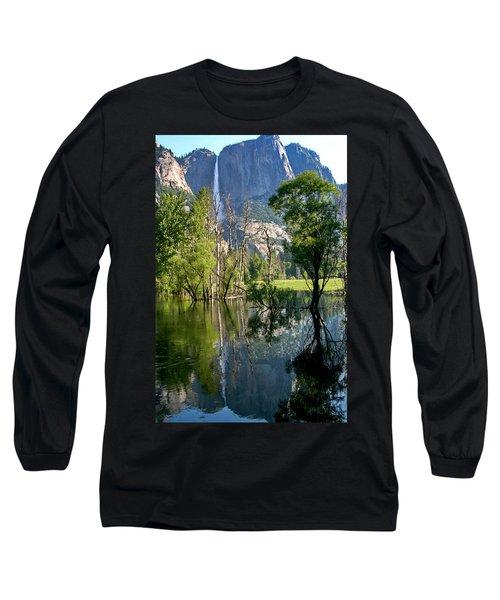 Water Fall Long Sleeve T-Shirt by Menachem Ganon