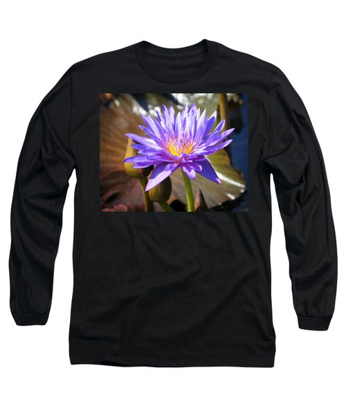 Long Sleeve T-Shirt featuring the photograph Water Flower 1004d by Marty Koch