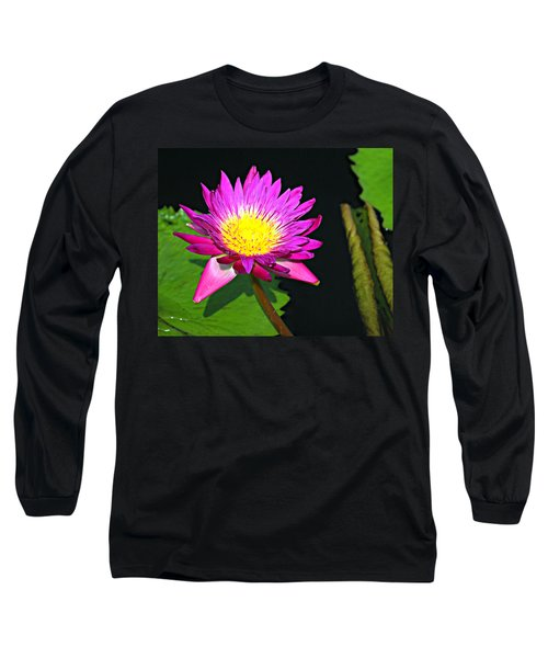 Long Sleeve T-Shirt featuring the photograph Water Flower 10089 by Marty Koch