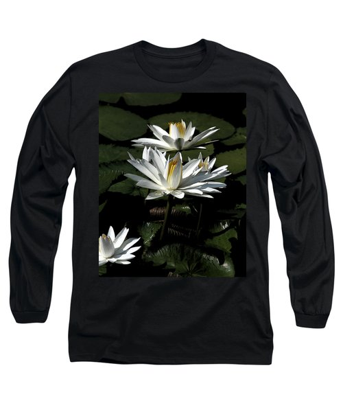 Long Sleeve T-Shirt featuring the photograph Water Lilies by John Freidenberg