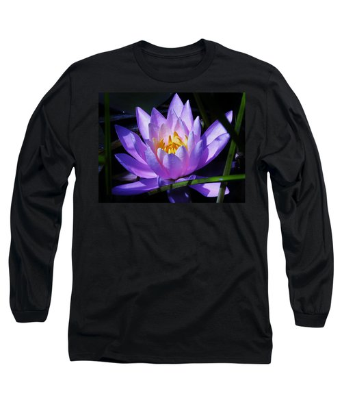 Water Lily Blues Long Sleeve T-Shirt