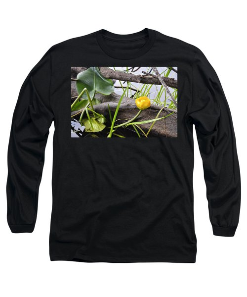 Long Sleeve T-Shirt featuring the photograph Water Lily by Cathy Mahnke
