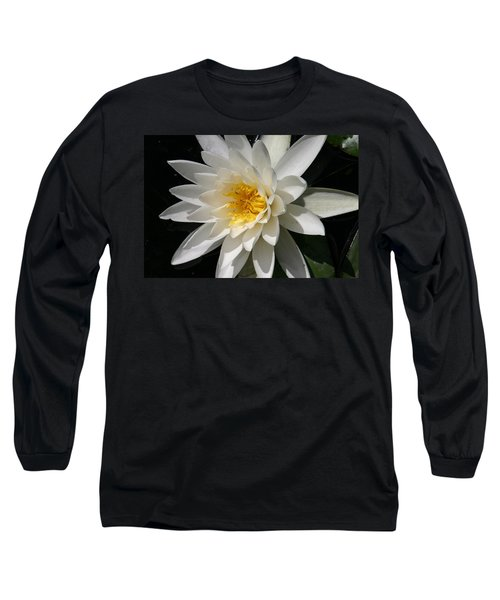 Long Sleeve T-Shirt featuring the photograph Water Lily  by Denyse Duhaime